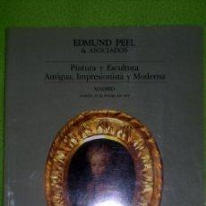 Arte: PINTURA Y ESCULTURA ANTIGUA,IMPRESIONISTA Y MODERNA;EDMUN PEEL & ASOCIADOS 1992¡NUEVO!. Lote 24278223