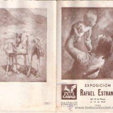 Arte: RAFAEL ESTRANY. MARZO 1944. SALA GASPAR. DÍPTICO. 18'5 X 11 CMTRS.. Lote 35915201