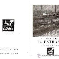Arte: R. ESTRANY. FEBRERO 1949. SALA GASPAR. DÍPTICO. 18'5 X 12'5 CMTRS.. Lote 35916324