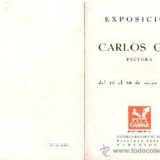 Arte: CARLOS GOT. MAYO 1944. SALA GASPAR. DÍPTICO. 18'5 X 12'5 CMTRS.. Lote 35916430