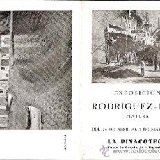 Arte: GUILLERMO RODRÍGUEZ PUIG.ABRIL 1948. LA PINAOTECA. BARCELONA. 17'5 X 12 CMTRS.. Lote 35949835