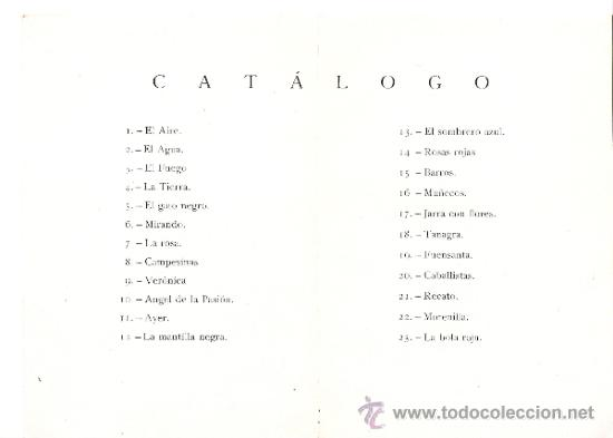 Arte: Rafael Pellicer. Abril 1943. Galerias Augusta. Barcelona. Díptico.175 x 12 cmtrs. - Foto 2 - 35958803
