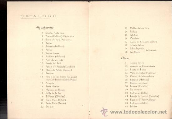 Arte: Marqués Prat. Galería Argos. Barcelona. Díptico.17 x 12 cmtrs. - Foto 2 - 35943565