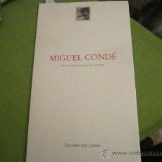 Arte: MIGUEL CONDE - GALERIA DEL LEONE - ITALIA 2002. Lote 35951732