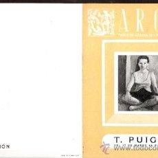Arte: T. PUIG CISA. MARZO 1951. GALERIAS ARGOS. BARCELONA. DÍPTICO. 15'5 X 12 CMTRS.. Lote 36003370