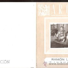Arte: RAMÓN LLOVET. MARZO 1951. GALERIAS ARGOS. BARCELONA. DÍPTICO. 15'5 X 12 CMTRS.. Lote 36004513