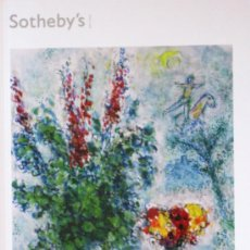 Arte: CATALOGO BOLSILLO SUBASTAS SOTHEBY'S LONDON - IMPRESSIONIST & MODERN ART... - 6 FEBRERO 2013. Lote 36056872