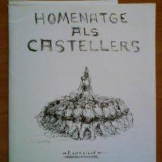 Arte: EXPOSICIO HOMENATGE ALS CASTELLERS - PINTOR J. BESTIT 1978. Lote 36063237