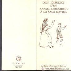 Arte: RAFAEL SERRAHIMA. ENERO 1982. SALA ROVIRA. DÍPTICO. 21'5 X 10 CMTRS.. Lote 36114640