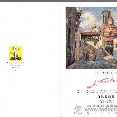 Arte: A. FONTANET. ENERO 1949. SALA ARGOS. DÍPTICO. 18 X 14 CMTRS.. Lote 36114756