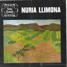 Arte: NURIA LLIMONA / SALA NONELL. Lote 36254843