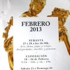 Arte: CATALOGO - SUBASTAS BALCLIS, BARCELONA - SUBASTA 27 Y 28 FEBRERO 2013, AGOTADO, DESCATALOGADO. Lote 36708499