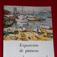 Arte: FOLLETO EXPOSICION DE PINTURAS JOSÉ OLIVÉ - OBRA CULTURAL CAJA DE AHORROS LEON - 1977. Lote 37353906