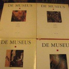 Arte: DE MUSEUS. QUADERNS DE MUSEOLOGIA I MUSEOGRAFIA. Nº 1,2,3 Y 4.1988-1993.. Lote 37501104