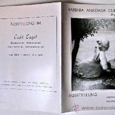 Arte: DÍPTICO-CATALOGO-EXPOSICION BARBARA ANASTASIA GUENTHER (CAFÉ ENGEL, BERLIN, 1979) . Lote 37877709