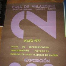 Arte: CARTEL EXPOSICIÓN CASA DE VELAZQUÉZ MAYO DE 1977, CIUDAD UNIVERSITARIA. TALLER DE EXPERIMENTACIÓN. Lote 37890262