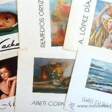 Arte: LOTE DE 6 CATALOGOS DE EXPOSICIONES DE LA SALA DE UNICAJA EN MALAGA ENTRE 1997 Y 1998.. Lote 37745709