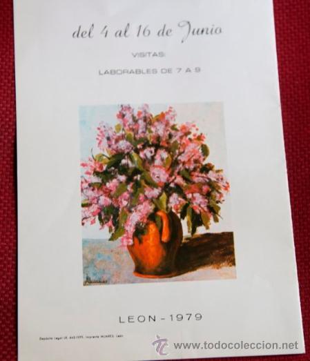 Arte: DIPTICO CATALOGO EXPOSICION DEL PINTOR JESUS DEL POZO QUIÑONES - LEON 1979 - Foto 2 - 38422204