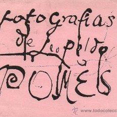 Arte: INVITACIÓN A LA EXPOSICIÓN 'FOTOGRAFIAS DE LEOPOLDO POMÉS' 1955.ILUSTRADA X MODEST CUIXART.MATARÓ.. Lote 38578662