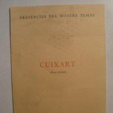 Arte: CATÁL. EXPO MODEST CUIXART - OBRES RECENTS (R. MÉTRAS 1981). DOS EPIGRAMAS DE R. SANTOS TORROELLA.. Lote 39005234