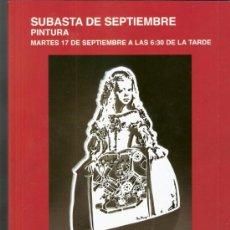 Arte: CATALOGO. PINTURA. SUBASTAS SEGRE. SUBASTA DE SEPTIEMBRE. 2013.. Lote 39784381