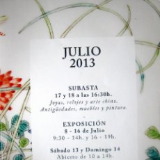 Arte: CATALOGO - CASA DE SUBASTAS BALCLIS, BARCELONA - SUBASTA 17 Y 18 JULIO 2013, AGOTADO, DESCATALOGADO. Lote 39308760