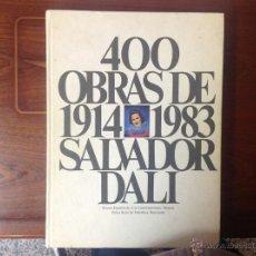 Arte: 400 OBRAS DE 1914 A 1983 DE SALVADOR DALÍ, 2 TOMOS EN SU CAJETÍN-ESTUCHE ORIGINAL, 1983. Lote 108926732