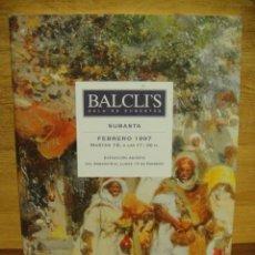 Arte: CATALOGO DE SUBASTAS BALCLIS - 1997. Lote 39461577