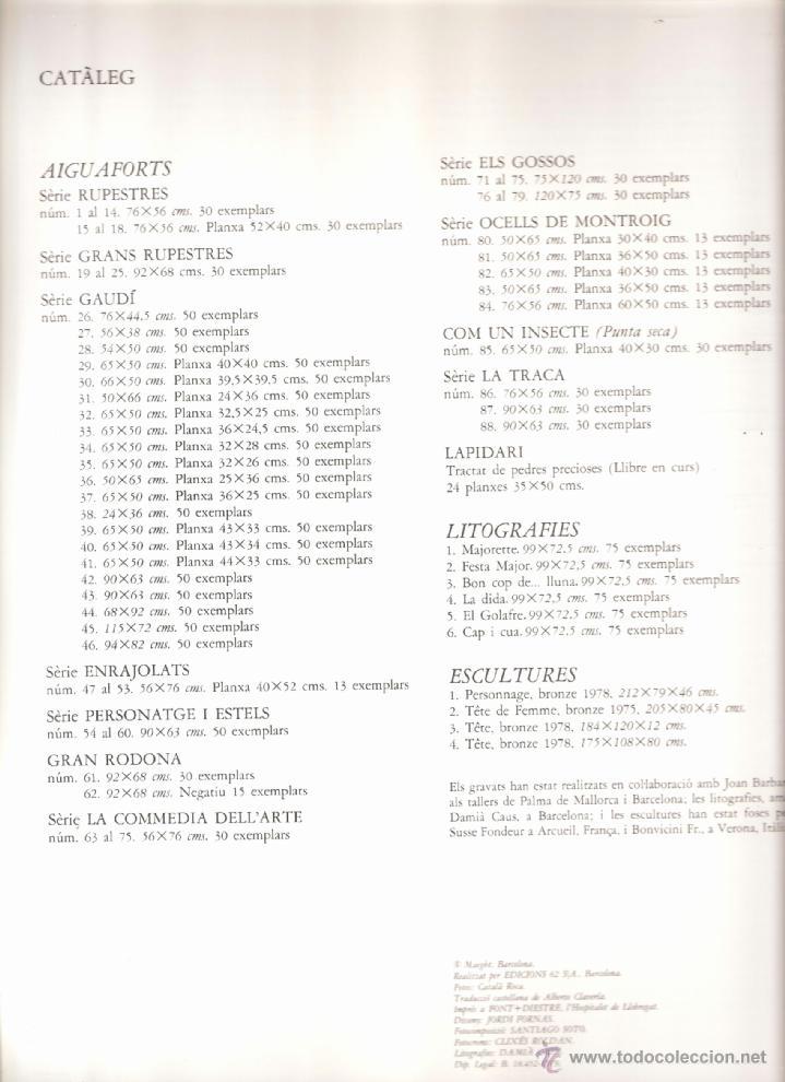 Arte: Joan Miró. Homenatge a Gaudí. 100 gravats i 4 escultures recents (1978-1979).Galería Maeght. 1979. - Foto 5 - 39762897