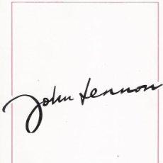 Arte: JOHN LENNON EX THE BEATLES-CATALOGO DE DIBUJOS. Lote 194261627