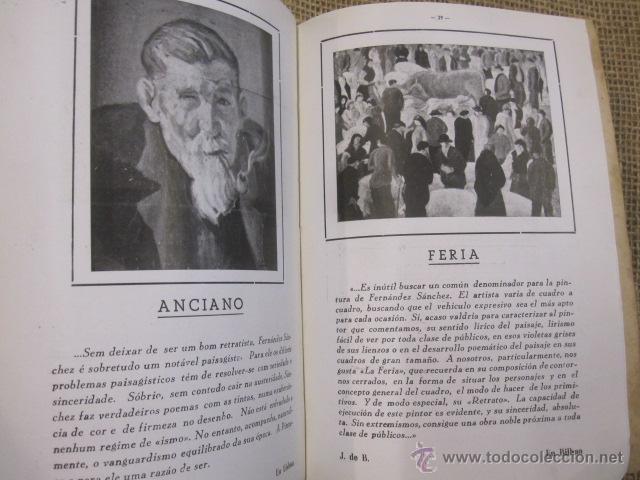 Arte: CATALOGO MONOGRAFIA DEL PINTOR CORUÑES J. FERNANDEZ SANCHEZ - CORUÑA 1959 - DEDICATORIA - Foto 3 - 41012817