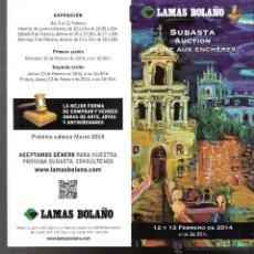 Arte: LAMAS BOLAÑO. SUBASTA. FEBRERO 2014. TRIPTICO. 21 X 10'5 CMTRS.. Lote 42261561