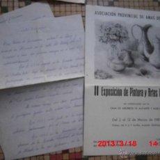 Arte: CURRICULUM EN MANUSCRITO Y CATALOGO DE ROSA PEIDRO PINTURA ALICANTINA. Lote 42341902