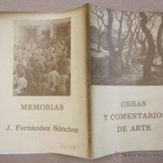 Arte: CATALOGO DEL PINTOR CORUÑES J. FERNANDEZ SANCHEZ - OBRAS Y COMENTARIOS DE ARTE - CORUÑA 1976 - . Lote 42371634