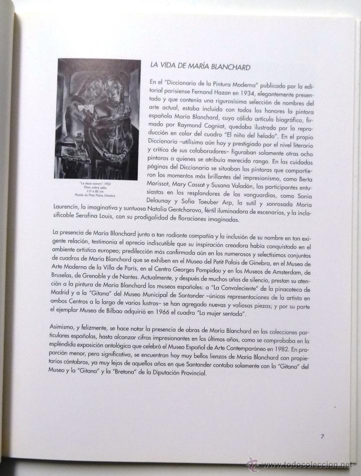 Arte: LIBRO CATALOGO DE MARÍA BLANCHARD. MARZO-ABRIL DE 1998. SOCIEDAD ECONÓMICA DE MALAGA. - Foto 2 - 37921274