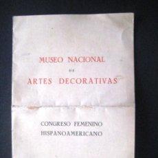 Arte: MUSEO NACIONAL ARTES DECORATIVAS. MADRID 1951.. . . Lote 43439988