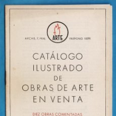 Arte: CATALOGO DE ARTE - SALA ARTE / BARCELONA - OBRAS EN VENTA / 10 OBRAS COMENTADAS - AÑO 1942 - RD18. Lote 43447660