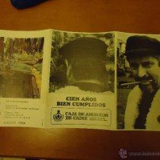 Arte: EXPOSICION FIDEL BOFILL - OBRA CULTURAL - CAJA DE AHORROS DE CADIZ - SALA EXPOSICIONES 1984. Lote 44208185