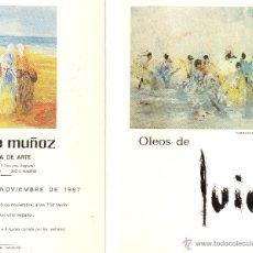 Arte: TRÍPTICO EXPOSICIÓN DEL PINTOR 'LUIGI' (VALENCIA,1934) EN GALERÍA MAYTE MUÑOZ, 1987. ENVÍO: 1,30 € *. Lote 44452763