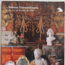 Arte: CATALOGO DE SUBASTAS SALA RETIRO: SUBASTA EXTRAORDINARIA JUNIO 2005 EN PERFECTO ESTADO . Lote 44821200