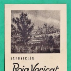 Arte: CATALOGO / INVITACION - EXPOSICION PINTURAS ROIG VERICAT - SALA BUSQUETS / BCN - AÑO 1944. Lote 44850651