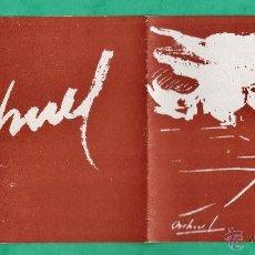 Arte: CATALOGO / INVITACION - EXPOSICION PINTURAS - ORIHUEL - GALERIAS PALLARES / BCN - AÑO 1944. Lote 44850834