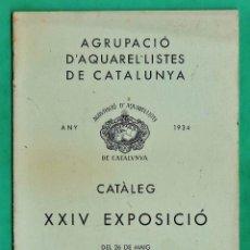 Arte - catalogo / invitacion - exposicio aquarel-listes de catalunya - galeries laietanes / bcn - año 1934 - 44852397