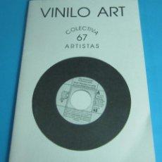Arte: VINILO ART. MAYO 2003. COLECTIVA 67 ARTISTAS. SALA EXPOSICIONES CASA DE CULTURA. CHIVA. Lote 44891717