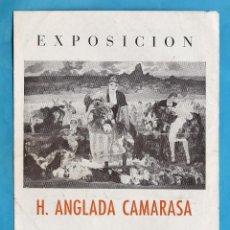 Arte: CATALOGO / INVITACION - EXPOSICION PINTURAS H. ANGLADA CAMARASA - SALA LA PINACOTECA / BCN -AÑO 1948. Lote 44909318