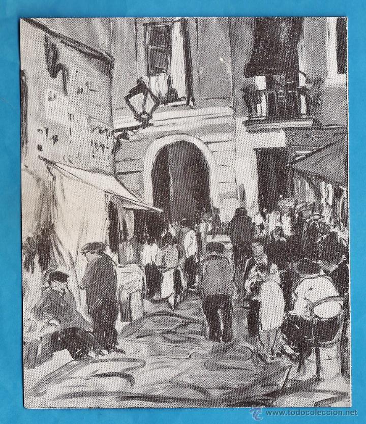 CATALOGO / INVITACION - EXPOSICION PINTURAS DE R. LOPEZ - GALERIES LAIETANES / BCN - AÑOS 30 (Arte - Catálogos)