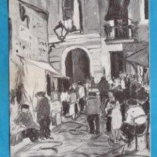 Arte: CATALOGO / INVITACION - EXPOSICION PINTURAS DE R. LOPEZ - GALERIES LAIETANES / BCN - AÑOS 30. Lote 44909792