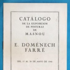 Arte: CATALOGO / INVITACION - EXPOSICION PINTURAS DE E. DOMENECH FARRE - GALERIAS REIG / BCN - AÑO 1943. Lote 44912434
