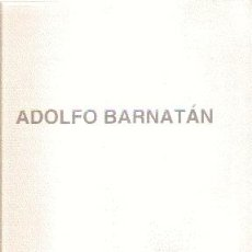 Arte: ADOLFO BARNATAN (2000) /// CALVO SERRALLER, FRANCISCO (TEXTO). Lote 44931167