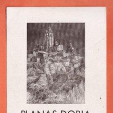 Arte: CATALOGO / INVITACION - EXPOSICION PINTURAS - PLANAS-DORIA - GALERIAS PALLARES / BCN - AÑO 1941. Lote 45005771